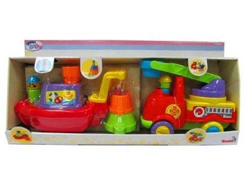 Машины Simba Пожарная лодочка и машинка
