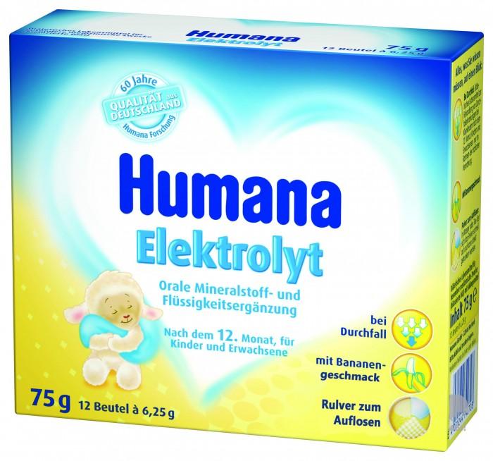 Чай Humana Электролит Банан с 12 мес 6,25 г х 12 пак.