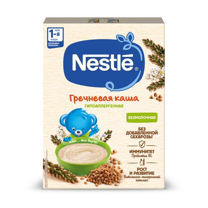 Nestle Безмолочная Гречневая каша с бифидобактериями витаминами и минералами с 5 мес. 200 г
