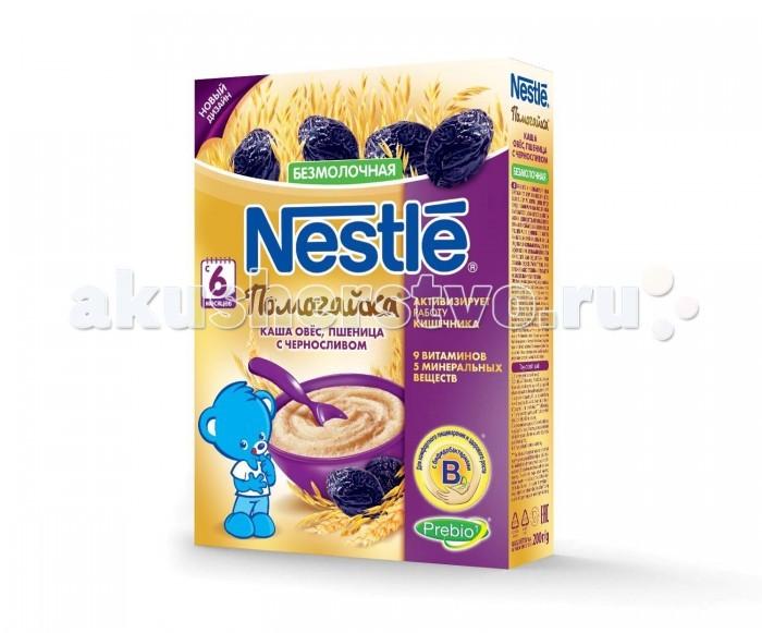 Каши Nestle Безмолочная каша Помогайка овес пшеница с черносливом с 6 мес. 200 г