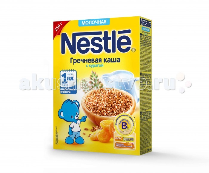 Nestle Молочная Гречневая каша с курагой с 5 мес. 250 г