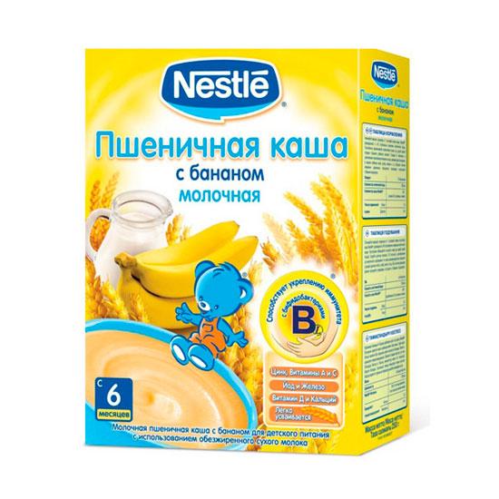 Каши Nestle Пшеничная молочная каша с бананом с 6 мес. 250 г