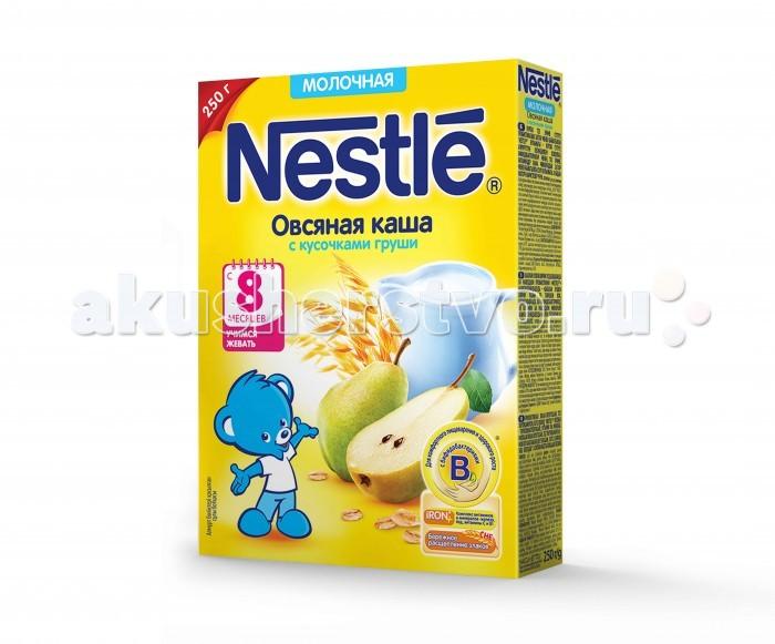 Каши Nestle Овсяная молочная каша с грушей с 8 мес. 250 г