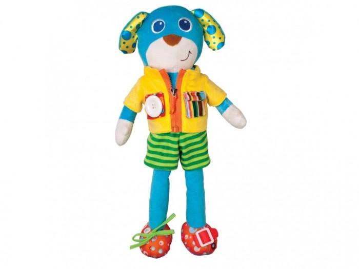 Развивающая игрушка Parkfield обучающая Собачкаобучающая СобачкаParkfield Игрушка обучающая Собачка  Развивающая моторику рук игрушка, с множеством элементов: шнурок, пуговица, липучка, молния и проч. Игрушка Собачка подготовит основу знаний вашего ребенка, что пригодится при обучении одеваться самостоятельно<br>