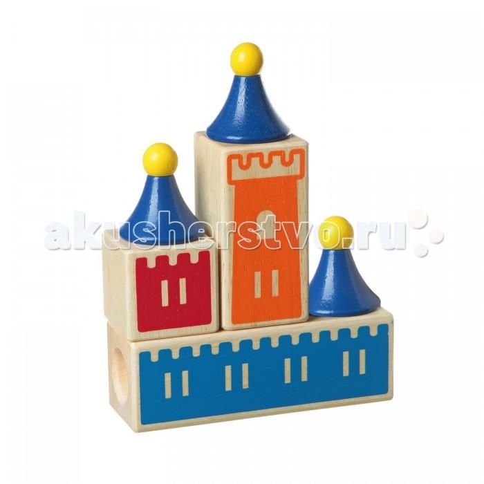 Деревянная игрушка Bondibon Логическая игра Замок загадокЛогическая игра Замок загадокЛогическая игра Замок загадок.  Построить красивый рыцарский замок – это мечта любого мальчишки! А если постройка замка – это не только интересная игра, но и замечательное упражнение для логики и смекалки? Именно такой игрой является «Замок загадок».   Постройте замок из деревянных деталей в соответствии с прилагаемыми заданиями, блок за блоком, башню за башней! Для этого придется задействовать ум и сообразительность, поскольку башни имеют разный диаметр, а блоки – разные отверстия, и правильный ответ может быть только один!   Прекрасная 3D-головоломка рассчитана на возраст детей от трех до восьми лет, но и взрослым подчас придется поломать голову над особо заковыристым заданием!   Для детей 3-8 лет.<br>