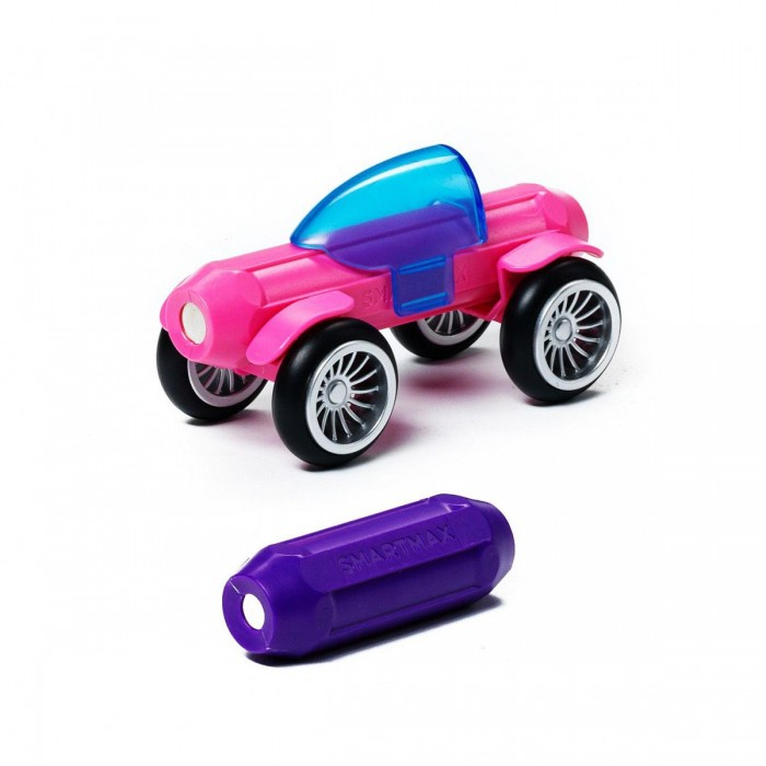 Конструктор Bondibon Специальный (Special) магнитный SmartMax набор: Розовый и ФиолетовыйСпециальный (Special) магнитный SmartMax набор: Розовый и ФиолетовыйМагнитный конструктор SmartMax Специальный (Special) набор: Розовый и Фиолетовый.  Увлекаться игрой воображения и получать от этого сто процентов удовольствия – вот задача такого конструктора!   Такой конструктор не только будет развлекать вашего малыша игрой, освобождая надолго вас от его требовательного внимания, но и познакомит вашего почемучку с принципом действия магнитов, и позволит собрать интересные модели, что не сможет не удивить родителей!   Детали во всех наборах крупные и легкие, поэтому они прекрасно подходят для малышей. Палочки имеют оболочку, сделанную из высококачественной пластмассы, и сердцевину – достаточно сильный магнит.   Магниты держатся внутри деталей очень прочно, и выпадение их во время игры исключено.<br>