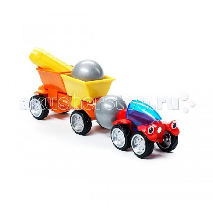 Bondibon Специальный (Special) магнитный SmartMax набор: Трейлер ТоммиСпециальный (Special) магнитный SmartMax набор: Трейлер ТоммиМагнитный конструктор SmartMax/ Специальный (Special) набор: Трейлер Томми.  Увлекаться игрой воображения и получать от этого сто процентов удовольствия – вот задача такого конструктора!   Такой конструктор не только будет развлекать вашего малыша игрой, освобождая надолго вас от его требовательного внимания, но и познакомит вашего почемучку с принципом действия магнитов, и позволит собрать интересные модели, что не сможет не удивить родителей!   Детали во всех наборах крупные и легкие, поэтому они прекрасно подходят для малышей. Палочки имеют оболочку, сделанную из высококачественной пластмассы, и сердцевину – достаточно сильный магнит.   Магниты держатся внутри деталей очень прочно, и выпадение их во время игры исключено.<br>