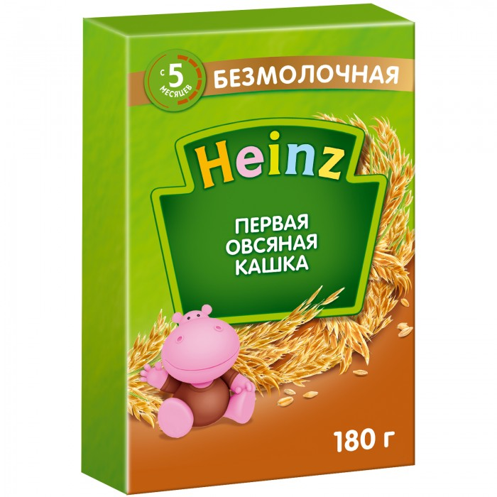 Каши Heinz Первая овсяная кашка с пребиотиками с 5 мес. 180 г
