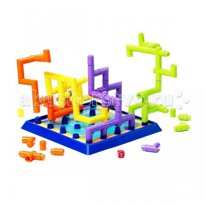 Bondibon Настольная игра Магистраль (3Д игра)Настольная игра Магистраль (3Д игра)Настольная игра Магистраль (3Д игра).  Почувствуй себя настоящим добытчиком... нефти! В этой увлекательной настольной игре предлагается построить собственную магистраль из разноцветных труб. Но не все так просто! Игроки по очереди бросают кубик и могут использовать только тот элемент трубопровода, который им выпадет.   Также есть возможность насолить сопернику и использовать фишку-заглушку, тем самым перекрыв ему возможность хода. Все игроки соревнуются между собой, просчитывая хитрые схемы расположения труб. К  то первый замкнет свой трубопровод на противоположном от его начала поле, тот - царь трубы! Семейная стратегическая игра, рассчитанная на 2-4 игрока.   Предназначена для детей старше 4 лет. Средняя продолжительность игры – 20 минут.<br>