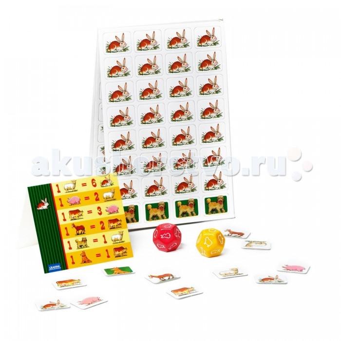 Bondibon Настольная игра Супер ФермерНастольная игра Супер ФермерНастольная игра Супер Фермер.  Игра «Супер Фермер» - это легендарная экономическая и стратегическая игра для всей семьи, которую разработал известный польский математик Кароль Борсук еще в 1943 году.   Каждый из игроков превращается в расчетливого фермера, решившего собрать стадо из кролика, овцы, свиньи, коровы и коня. Но, как и в реальном фермерстве, где-то неподалеку вынюхивают свою добычу волк и лисица, которые очень хотят утащить кого-нибудь из стада.   Для этой игры впервые был придуман кубик с 12 гранями, на которых обозначены типы ходов - это может быть как прирост стада за счет определенных животных, так и нападение хищников. Твоя прибыль растет за счет увеличения поголовья в стаде, а также за счет обмена с противниками раными животными.   Победителем, или Супер Фермером станет тот, кто первым соберет полное стадо из всех видов животных.   Эта классическая настольная стратегическая игра прекрасно развлечет всю семью вечерами, а также поможет развить математическое и логическое мышление.<br>