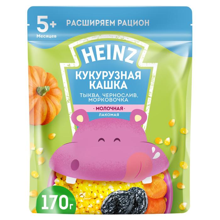 Каши Heinz Лакомая кукурузная молочная кашка Тыква, морковочка, чернослив с 5 мес. 200 г