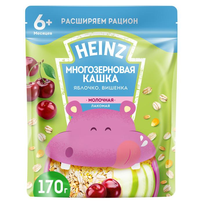 Heinz Молочная Лакомая многозерновая кашка Яблоко, вишенка с 6 мес. 200 г