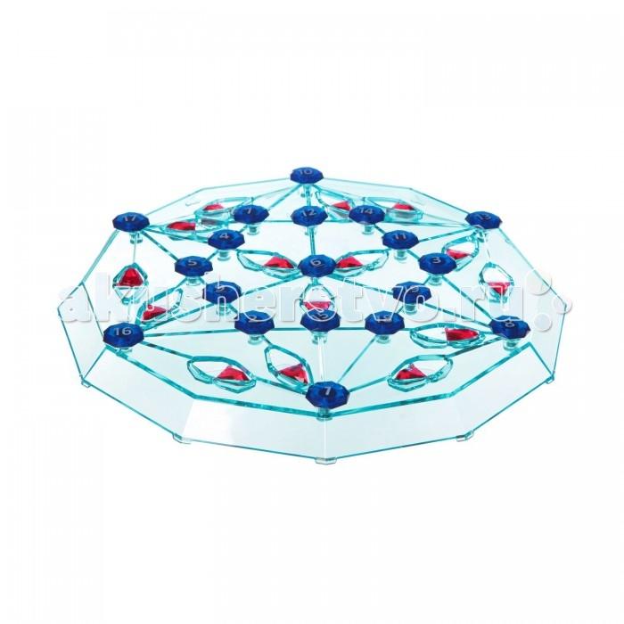 Bondibon Настольная игра Бриллиантовый квестНастольная игра Бриллиантовый квестНастольная игра Бриллиантовый квест.  Игра «Бриллиантовый квест» предназначена как для одного игрока, так и для компании. В этой игре предстоит на специальной шестигранной доске размещать пронумерованные магнитные камни в количестве 19 штук определенным образом: на точках пересечения линий и так, чтобы получилась непрерывная тропа!   Игра требует большой внимательности и наличия пространственного мышления, и станет замечательным интеллектуальным развлечением – как для детей, так и для взрослых! А наличие огромного количества игровых комбинаций никогда не даст заскучать!   В состав игры входят игровая доска с пятнадцатью двигающимися стрелками, девятнадцать пронумерованных камней и инструкция.<br>