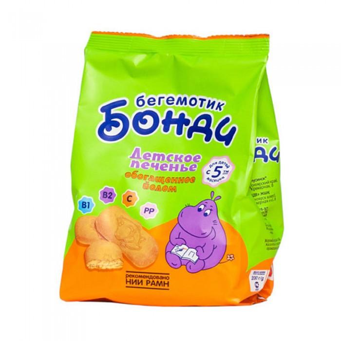 Печенье Бегемотик Бонди Печенье обогащенное йодом с 5 мес. 200 г
