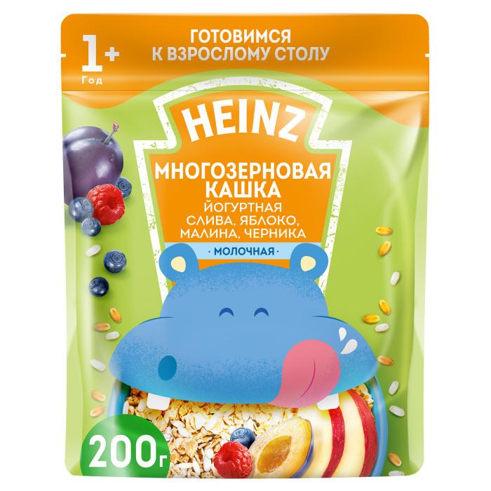 Heinz Молочная Многозерновая кашка Йогурт, слива, яблоко, малина, черника с 1 года 200 гМолочная Многозерновая кашка Йогурт, слива, яблоко, малина, черника с 1 года 200 гМногозерновая кашка Йогурт, слива, яблоко, малина, черника незаменима для полноценного развития малыша, так как являются одним из главнейших источников хорошо усваиваемых углеводов, минеральных веществ и витаминов, незаменимой для организма клетчатки и растительных белков. Обогащена всеми витаминами и минералами, которые так необходимы малышу в этом возрасте. К тому же в кашку добавлены ягоды - малина, черника, яблоко, слива, которые улучшают ее вкус. Состав: пшеничная мука, сухие сливки, сахар, сухое цельное молоко, продукт экструдированный рисовый (рисовая крупа, сахар, соль), сухое обезжиренное молоко, слива, яблоко, пребиотические волокна цикория 2% (инулин, олигофруктоза), кукурузное масло, натуральный йогуртовый порошок, малина, черника, карбонат кальция, лактат кальция, соль, железо, окись цинка, йодистый калий, витамины: А, D, E, В1, В2, В6, В12, РР, С, фолиевая кислота, биотин, пантотеновая кислота.Особенности:Без ароматизаторов, консервантов, красителей, генетически модифицированных ингредиентов Содержит глютен, молоко<br>