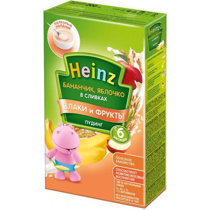 Каши Heinz Пудинг Бананчик, яблоко в сливках с 6 мес. 200 г