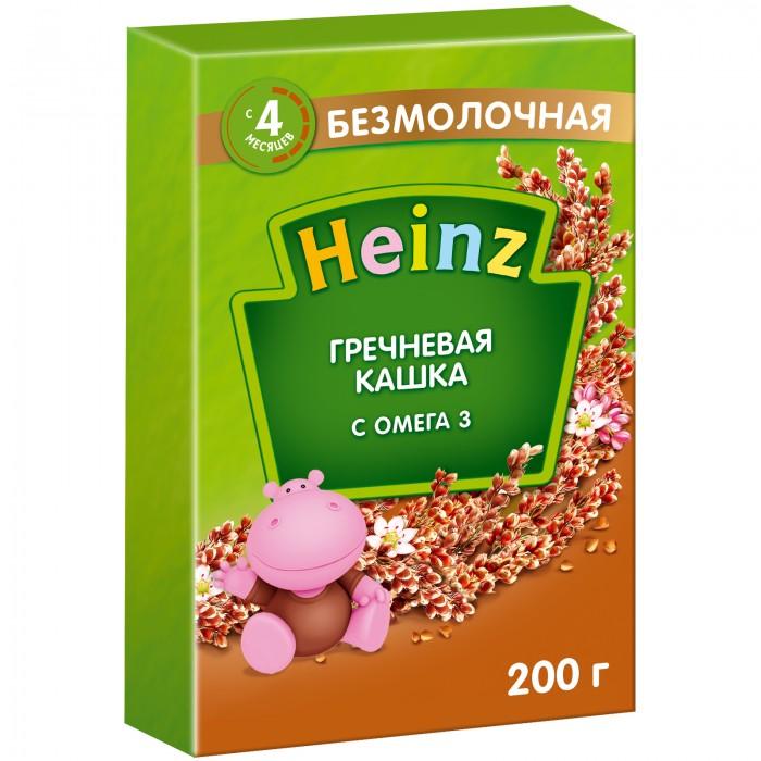 Каши Heinz Гречневая безмолочная кашка Омега-3 с 4 мес. 200 г