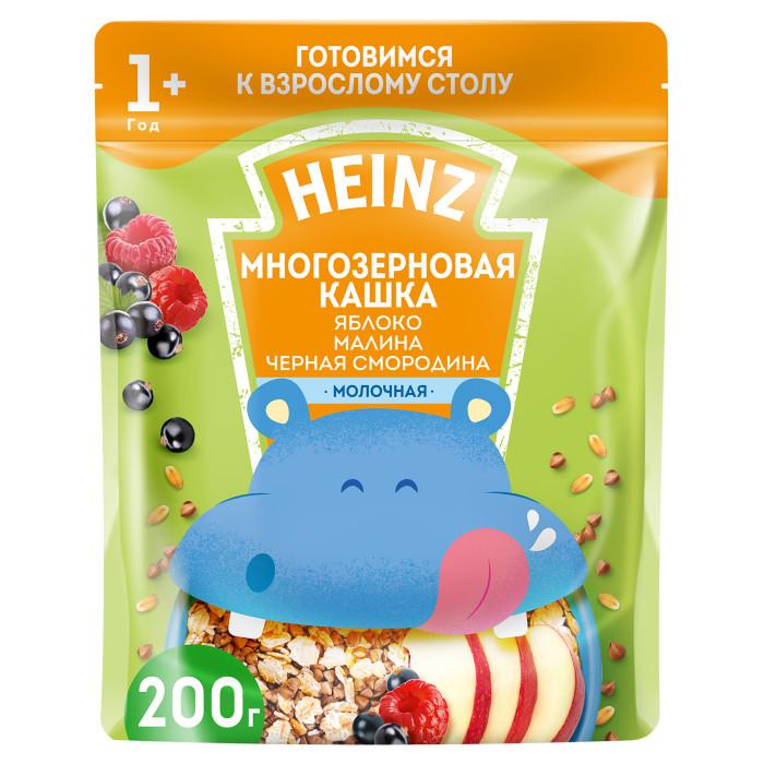 Heinz Молочная Многозерновая кашка Яблоко, малина, черная смородина с 1 года 200 г