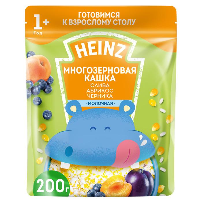 Heinz Молочная Многозерновая кашка Слива, абрикос, черника с 1 года 200 г
