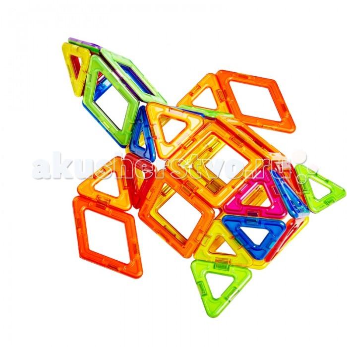 Конструктор Магникон МК-62 магнитный (62 деталей)МК-62 магнитный (62 деталей)Конструктор Магникон МК-62  Магникон МК-62-отличный набор, который можно смело порекомендовать детям, только начинающим своё общение с семейством конструкторов Maгникон.  Все детали разноцветные, яркие, и, без сомнения, понравятся любому малышу. Ребенок научится различить геометрические формы, цвета, сможет освоить новый мир форм, делать несложные аппликации. Малыш сам создаст свой первый домик не только на плоскости, но и в трехмерном пространстве и сможет таким образом почувствовать разницу между плоскими и объемными фигурами.<br>