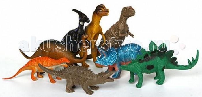 Игруша Игровой набор Динозавры F283Игровой набор Динозавры F283Игруша Игровой набор Динозавры F283 обязательно понравится вашему малышу и займет его внимание надолго.  Особенности: Комплект изготовлен из качественного материала, который безопасен для малышей.  Используя фигурки и различные подручные материалы, ребенок сможет придумать много увлекательных историй и воплотить их в жизнь.  Набор Динозавры развивает у детей творческие способности, воображение, мелкую моторику рук.  Количество элементов: 8 шт.<br>