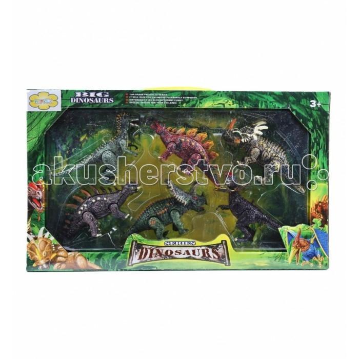 Игруша Игровой набор Динозавры I-1022927-1Игровой набор Динозавры I-1022927-1Игруша Игровой набор Динозавры I-1022927-1 обязательно понравится вашему малышу и займет его внимание надолго.  Особенности: Комплект изготовлен из качественного материала, который безопасен для малышей.  Используя фигурки и различные подручные материалы, ребенок сможет придумать много увлекательных историй и воплотить их в жизнь.  Набор Динозавры развивает у детей творческие способности, воображение, мелкую моторику рук.  Количество элементов: 6 шт.<br>