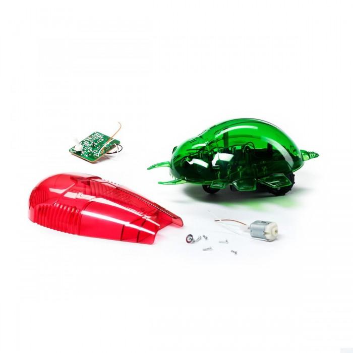 Bondibon Французские опыты Науки с Буки (2 эксперимента) РобототехникаФранцузские опыты Науки с Буки (2 эксперимента) РобототехникаФранцузские опыты Науки с Буки (2 эксперимента) Робототехника.  Удивите друзей, управляя роботом-жуком при помощи пульта от телевизора или даже обычным фонариком! В этом научно-познавательном наборе есть множество деталей для того, чтобы при помощи наглядной инструкции собрать двух роботов-жуков.   Один из роботов управляется с помощью инфракрасных лучей, которые излучает самый простой пульт от телевизора или плеера при нажатии на любую кнопку. Дальность действия дистанционного управления достигает двух метров. Второй робот будет отличным будильником для тех, кто хочет просыпаться с первыми лучами солнца, ведь он реагирует на самый обычный свет, будь он естественным солнечным или искусственным.   Можно управлять роботом при помощи обычного фонарика! С помощью этого набора ребенок освоит основы робототехники, узнает что такое инфракрасный и световые сенсоры, а также почерпнет занятные факты о роботах из приложенной к набору брошюры.<br>