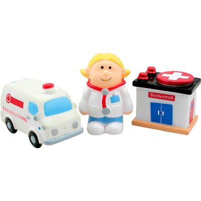 Игрушки для купания Курносики Набор игрушек-брызгалок Скорая помощь