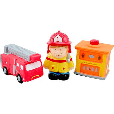 Игрушки для купания Курносики Набор игрушек-брызгалок Пожарные
