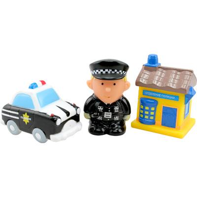 Игрушки для купания Курносики Набор игрушек-брызгалок Полиция