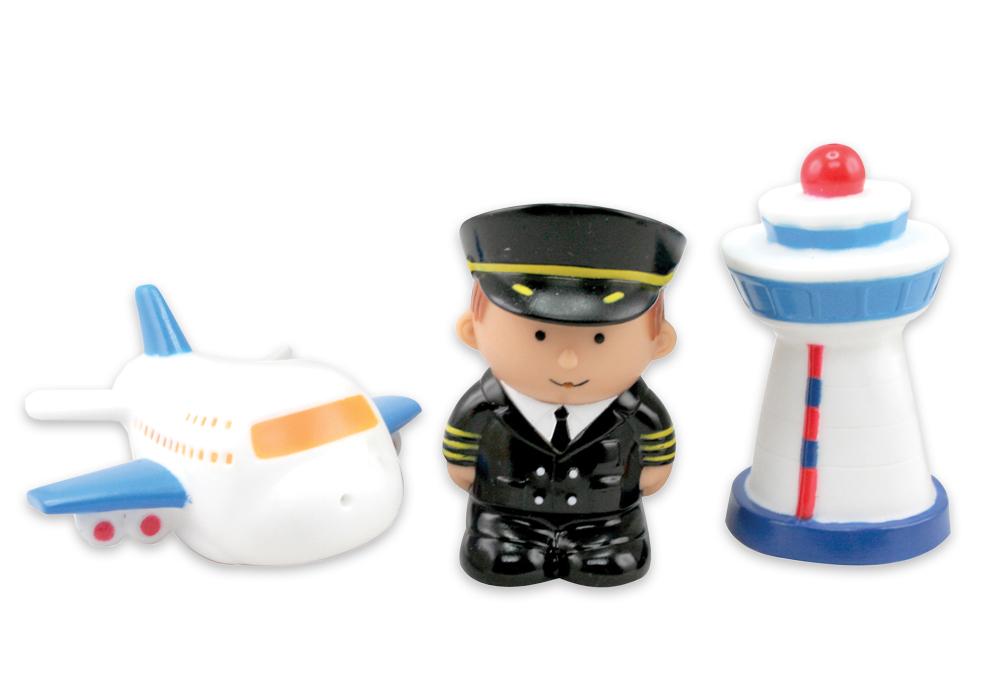 Игрушки для купания Курносики Набор игрушек-брызгалок для ванны Авиация