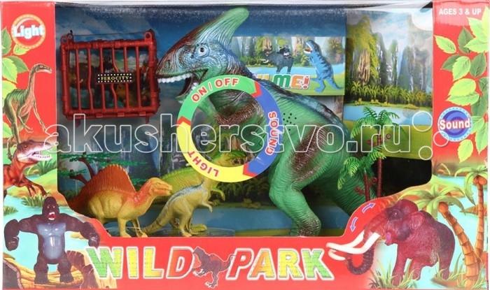 Игруша Игровой набор Дикий парк I-924472-1Игровой набор Дикий парк I-924472-1Игруша Игровой набор Дикий парк I-924472-1 привлечет внимание вашего ребенка и не позволит ему скучать. С этим набором время пролетит весело и незаметно.  Особенности: Фигурки динозавров изготовлены из высококачественных материалов, абсолютно безопасных для малышей.  Развивает воображение и фантазию.  Световые и звуковые эффекты. Возможность включить-выключить. Для работы необходимы батарейки.<br>