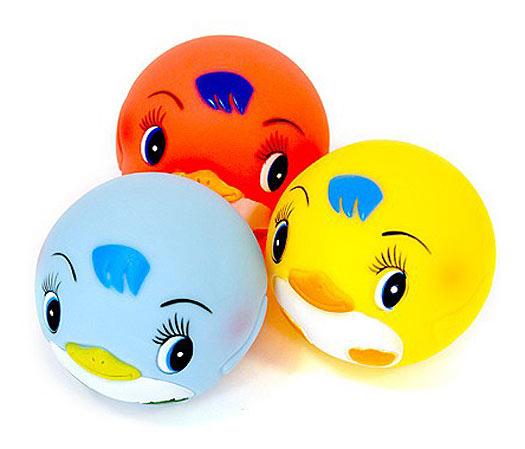 Игрушки для купания Курносики Игрушка для ванной Мячики-пингвины