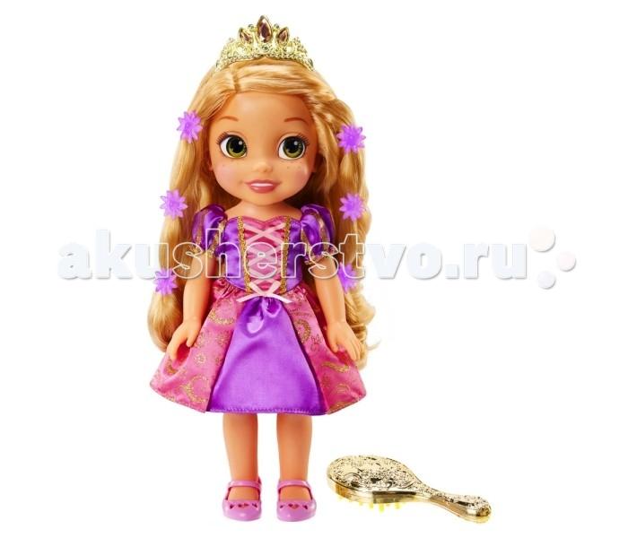 Disney Princess Кукла Рапунцель со светящимися волосамиPrincess Кукла Рапунцель со светящимися волосамиЗамечательная кукла, выполненная в виде героини популярной диснеевской сказки «Рапунцель: Запутанная история». У принцессы Рапунцель из мультфильма светились волосы, когда она пела, расчесывая свои чудесные локоны.   У куколки Disney Princess 759440 Принцессы Дисней Рапунцель со светящимися волосами, волосы сияют как у настоящей Рапунцель! Для того чтобы локоны засветились, достаточно провести по волосам расческой, входящей в комплект набора или нажать на кнопочку на платье. Кроме того, маленькая принцесса исполнит песню из мультфильма!  Куколка одета в нарядное красивое платье, на ножках у неё розовые туфельки, а на голове драгоценная диадема. Размер игрушки около 35 см.<br>