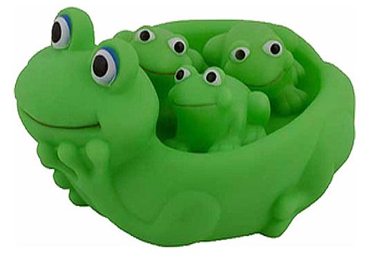 Игрушки для купания Курносики Игрушка для ванной Семейка лягушки