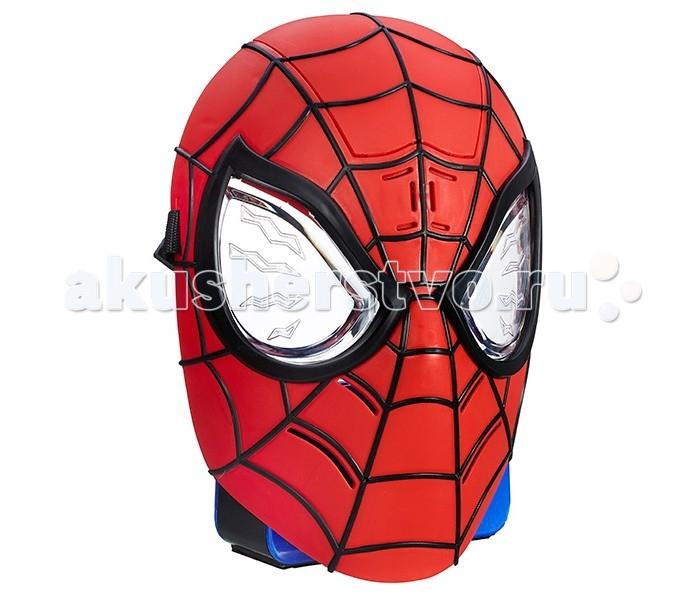 Hasbro Spiderman Маска Человека-ПаукаSpiderman Маска Человека-ПаукаС потрясающей реалистичностью маской Человека Паука от всемирно известной компании Hasbro ваш ребенок сможет почувствовать себя настоящим супергероем!   Она выполнена в дизайне, аналогичном оригинальному костюму Спайдермена: ярко-красная маска с черными полосками, с использованием синего цвета. В данной маске, все точно примут юного героя за настоящего Человека-Паука!   Юные поклонники Человека-Паука наверняка будут рады примерить на себя роль любимого супергероя, борца со злом, и разыграть любимую сценку из мультфильма.   С маской Человека-Паука такая сюжетно-ролевая игра станет еще интереснее, увлекательнее и правдоподобнее. Также данная маска может активировать до 40 различных фраз из фильмов и мультфильмов о Человеке-Пауке и имеет различные подсветки!<br>