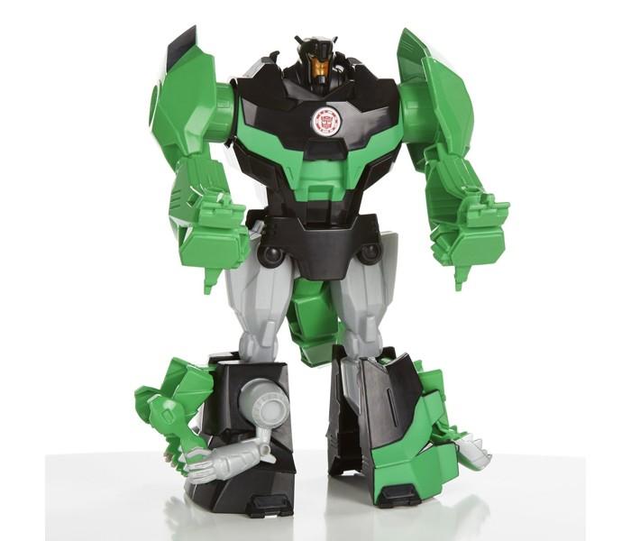 Transformers Hasbro Трансформеры роботы под прикрытием: ГиперчэнджHasbro Трансформеры роботы под прикрытием: ГиперчэнджВ ассортимент игрушечных трансформеров под прикрытием Гиперчэндж входят 3 робота:  Гримлок (Grimlock) - серо-зеленый робот, способный превращаться в устрашающего динозавра. У него подвижные лапы и хвост, благодаря чему игровой процесс станет еще более интересным и привлекательным. Сайдсвайп (Sideswipe) - красно-черный робот, способный трансформироваться в уникальный высокоскоростной автомобиль. Бамблби (Bumblebee) - пожалуй, один из самых известных и популярных антропоморфных роботов, который умеет превращаться в гоночный автомобиль.  Каждый из роботов легко трансформируется путем 3 простых движений, поэтому в процессе игры у ребенка не возникнет сложностей в этом.  Игрушка представлена в ассортименте. Цена указана за 1 робота.<br>