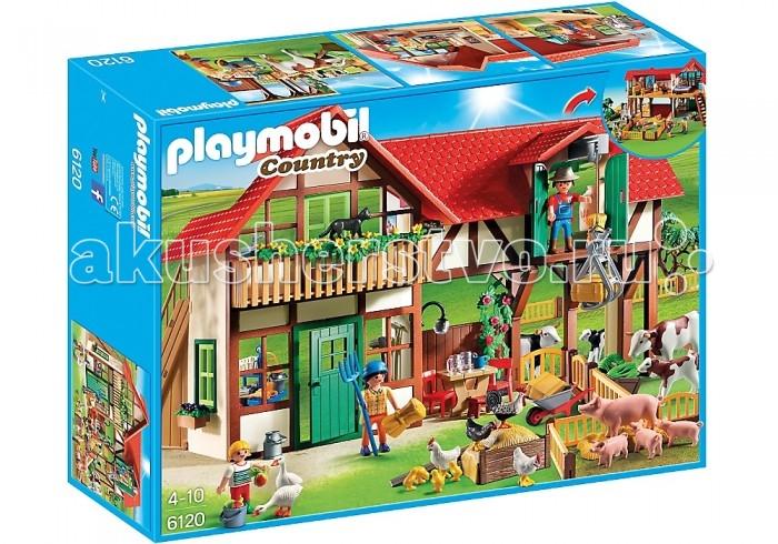 Playmobil Ферма: Большая ферма playmobil ферма золотые ретриверы с щенками