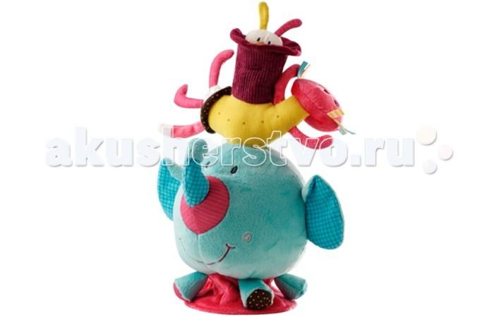 Развивающая игрушка Lilliputiens Слоненок Альберт: мягкая игрушка на балансСлоненок Альберт: мягкая игрушка на балансРазвивающая игрушка Lilliputiens Слоненок Альберт: мягкая игрушка на баланс. Посмотри! Слоненок, кошечка и кролик построили пирамиду! Раскачивай их из стороны в сторону под звуки колокольчика и не бойся! Они не упадут!  Игрушка сшита из качественных гипоаллергенных материалов, безопасна для ребёнка. Она мягкая, яркая и обязательно понравится и мальчикам, и девочкам.<br>