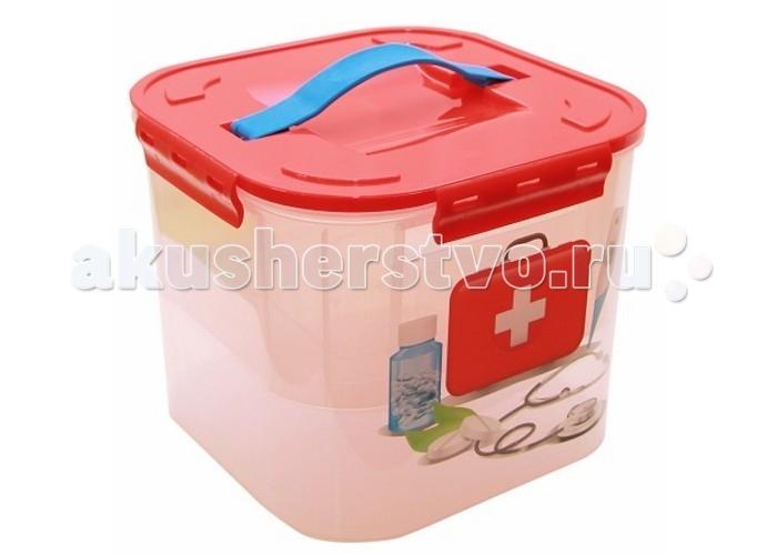 Idea (М-Пластика) Контейнер для детских принадлежностей Аптечка 7 л