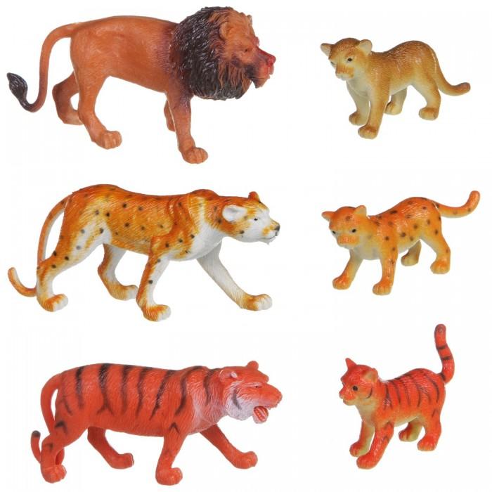 Bondibon Набор животных Ребятам о Зверятах Дикие животные с детёнышами 6 шт. 2 вида