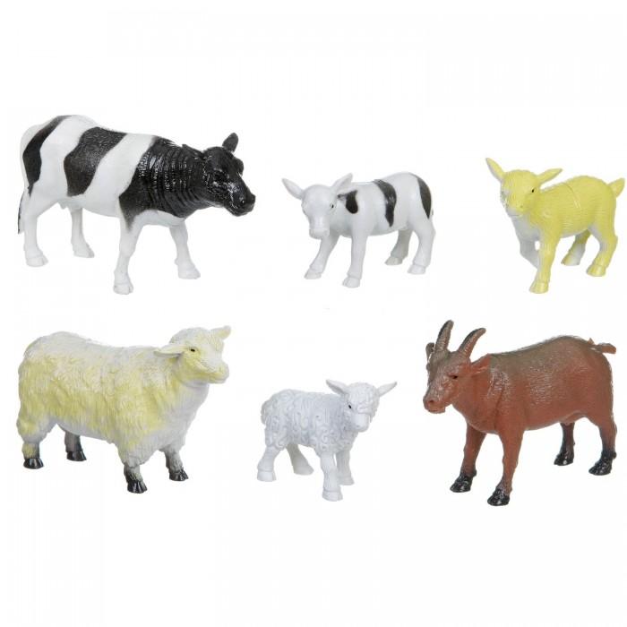 Bondibon Набор животных Ребятам о Зверятах Домашние животные с детёнышами 6 шт. 2 вида