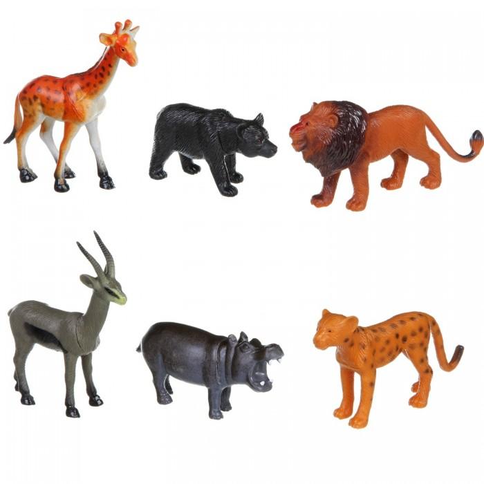 Bondibon Набор животных Ребятам о Зверятах Дикие животные 5 дюймов 6 шт.
