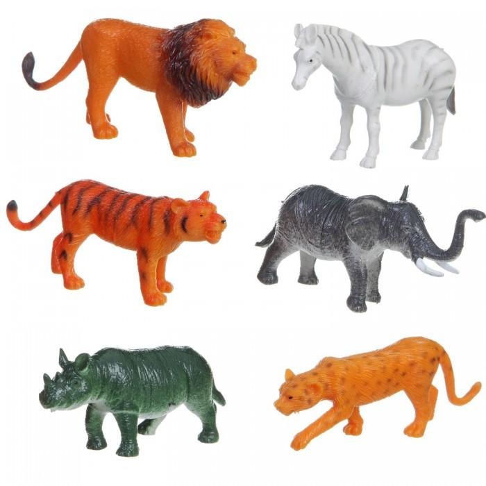 Bondibon Набор животных Ребятам о Зверятах Дикие животные 3-4 дюйма 6 шт.Набор животных Ребятам о Зверятах Дикие животные 3-4 дюйма 6 шт.Набор животных Ребятам о Зверятах Дикие животные 3-4 дюйма 6 шт.  Коллекция животных с 5 континентов.  Фигурки животных выглядят реалистично, чтобы ребёнок играл и познавал окружающий мир с удовольствием.<br>