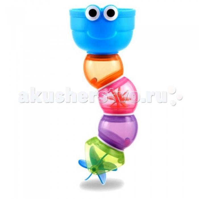 Munchkin Игрушка для ванны ЗмейкаИгрушка для ванны ЗмейкаИгрушка для ванны Змейка Munchkin  Пять ярких формочек соединены в красочную змейку, которая позволяет малышку наблюдать, как вода проливается через отверстия разной формы - теперь купание станет сплошным весельем!  развивает мелкую моторику, зрительное восприятие, творческое мышление ребенка эргономичная форма для детских ручек рекомендуемый возраст: от 6 месяцев  Миссия Munchkin, американской компании с 20-летней историей: избавить мир от надоевших и прозаических товаров, искать умные инновационные решения, которые превращает обыденные задачи в опыт, приносящий удовольствие. Понимая, что наибольшее значение в быту имеют именно мелочи, компания создает уникальные товары, которые помогают поддерживать порядок, организовывать пространство, облегчают уход за детьми – недаром компания имеет уже более 140 патентов и изобретений, используемых в создании ее неповторимой и оригинальной продукции. Munchkin делает жизнь родителей легче!<br>