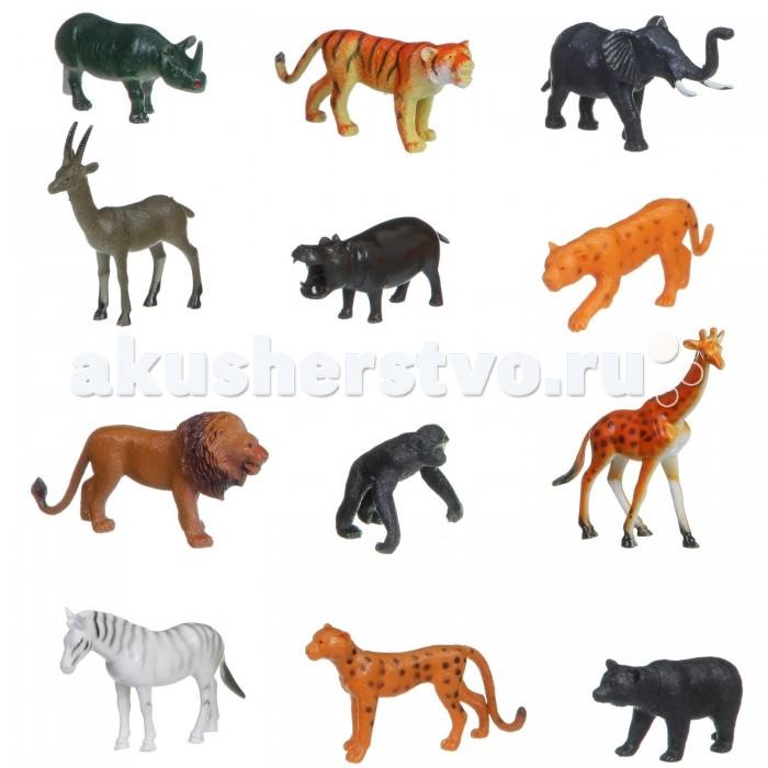 Bondibon Набор животных Ребятам о Зверятах Дикие животные 4 дюйма 12 шт.