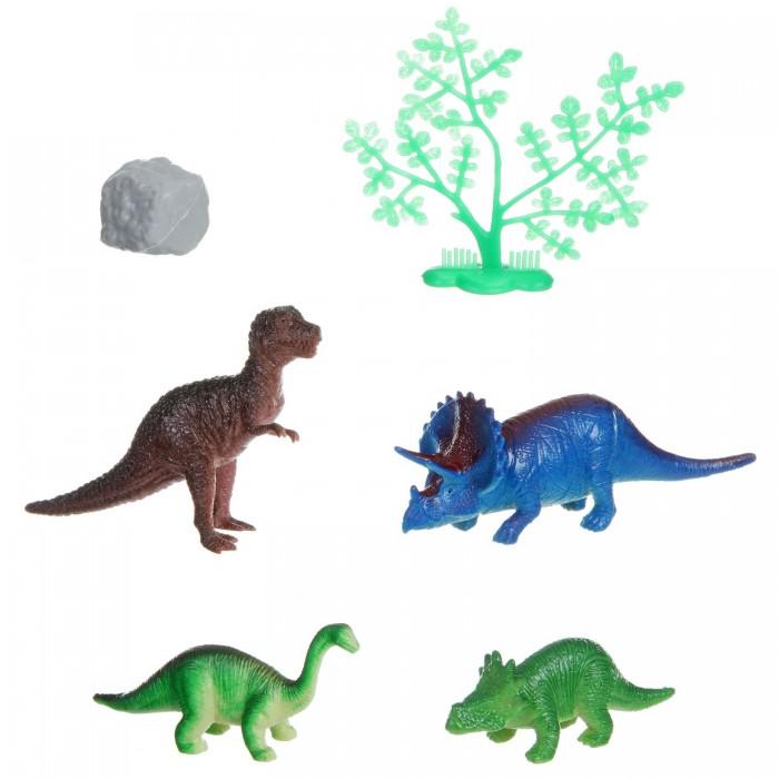 Bondibon Набор животных Ребятам о Зверятах Динозавр 2-4 дюйма 4 шт.