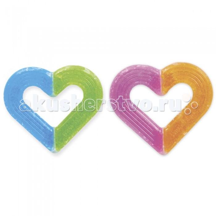Прорезыватель Munchkin игрушка Сердечкоигрушка СердечкоИгрушка-прорезыватель Munchkin Сердечко 0+  Прорезыватель Сердечко с гелем внутри можно охладить в холодильнике или морозильной камере, благодаря чему он быстрее снимет боль и облегчит самочувствие малыша в период прорезывания зубов. Размер прорезывателя удобен для маленьких рук, мягкие текстурированные поверхности массируют десны и приятны для жевания.  прорезыватель можно охлаждать в холодильнике или морозильной камере обеспечивает мягкое давление и стимулирует десны, когда начинают резаться зубы нежные текстурированные силиконовые поверхности приятны детям и им нравится их жевать не содержат обезболивающих средств, бисфенол А, PVC (поливинилхлорид) возраст: 0+ 2 цвета в ассортименте, выбрать цвет заранее нет возможности не кипятить, не подвергать действию пара, не помещать в микроволновую печь и посудомоечную машину   Миссия Munchkin, американской компании с 20-летней историей: избавить мир от надоевших и прозаических товаров, искать умные инновационные решения, которые превращает обыденные задачи в опыт, приносящий удовольствие. Понимая, что наибольшее значение в быту имеют именно мелочи, компания создает уникальные товары, которые помогают поддерживать порядок, организовывать пространство, облегчают уход за детьми – недаром компания имеет уже более 140 патентов и изобретений, используемых в создании ее неповторимой и оригинальной продукции. Munchkin делает жизнь родителей легче!<br>