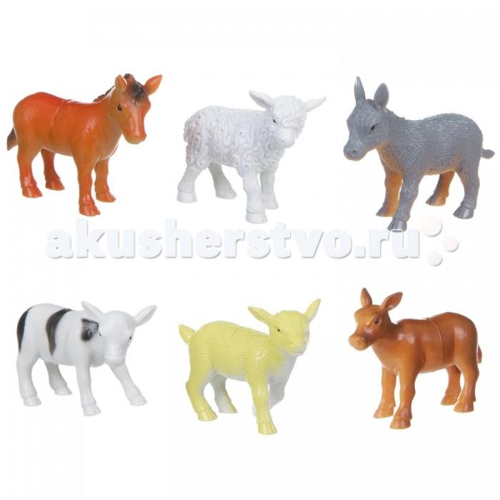 Bondibon Набор животных Ребятам о Зверятах Детёныши домашних животных 3-3,5 дюйма 6 шт.