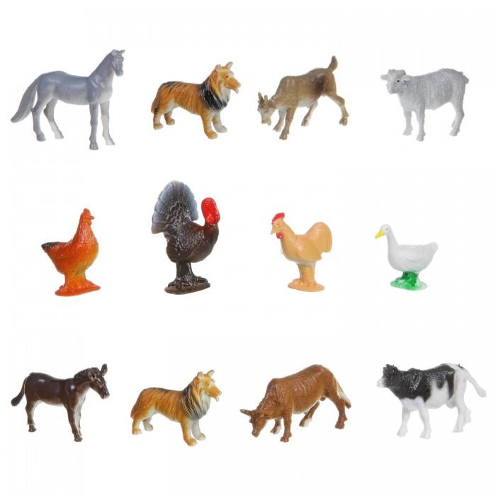 Bondibon Набор животных Ребятам о Зверятах Домашние животные и птицы 2 дюйма 12 шт.